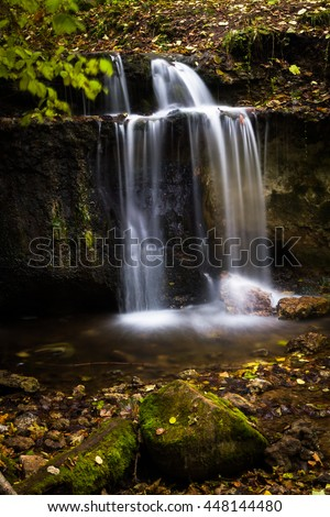 Small waterfall in Gauja national park
