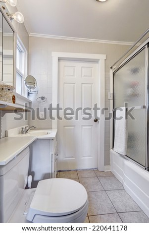White Bathroom Door bathroom door stock images, royalty-free images & vectors