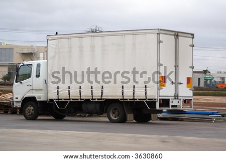 Small white truck