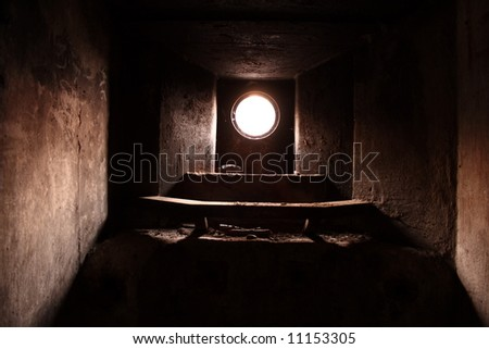 small window in the bunker