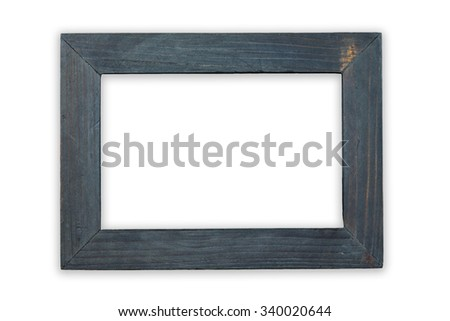 Small wood frame isolated on white background