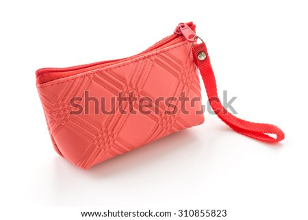 small zip bag on white background