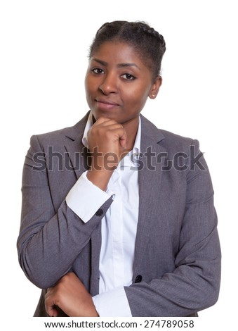 Smart businesswoman from Africa - stock photo