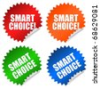 Smart choice sticker - stock vector