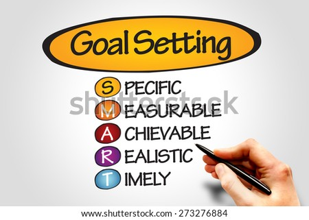 SMART Goal Setting, business concept - stock photo