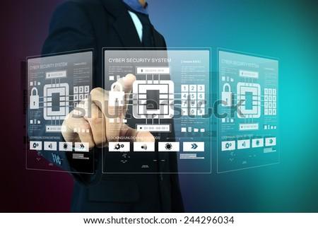 Smart hand showing futuristic technology - stock photo