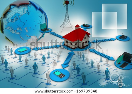 Smart home concept - stock photo
