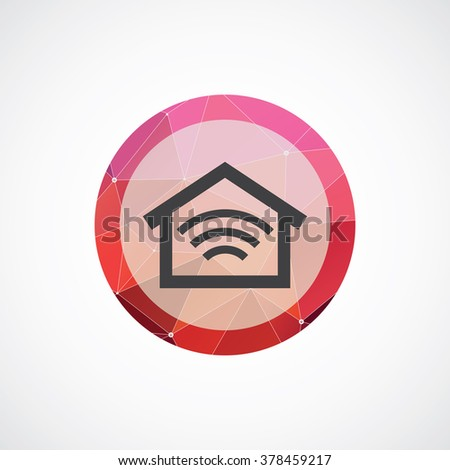 smart home icon, on white background