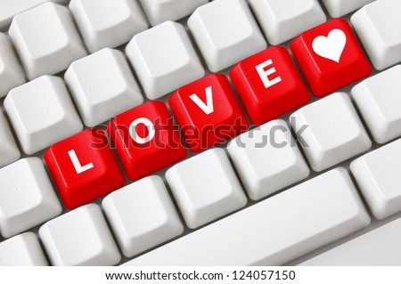 Smart Keyboard Color Button Love Text Stock Photo 100 Legal
