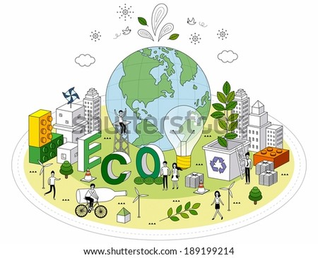 smart life and recycling ,eco-life