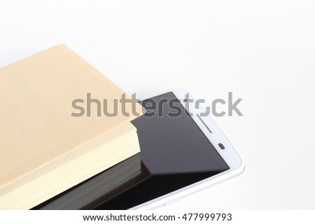 Smart phone and books
