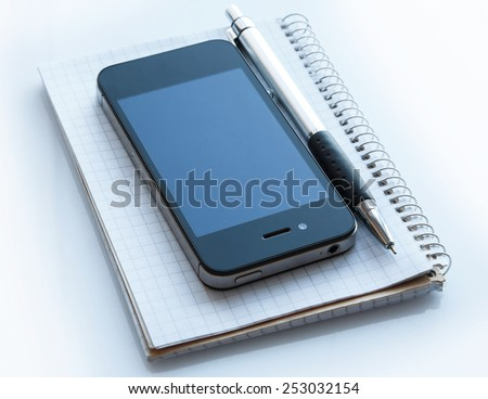 Smart phone and notepad