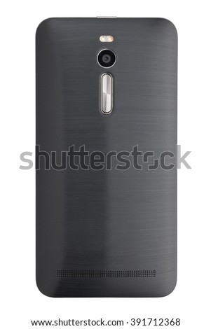 smart phone backside isolated - stock photo