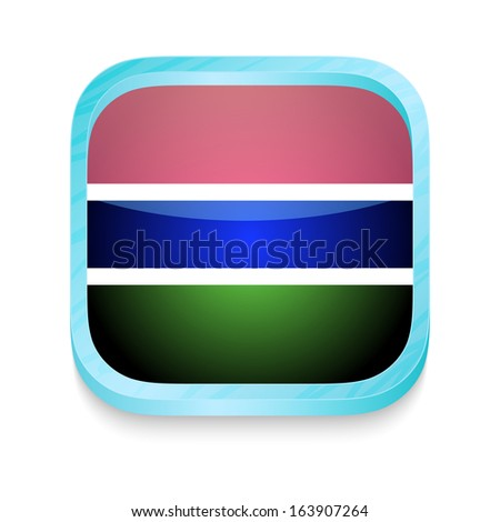 Smart phone button with Gambia flag