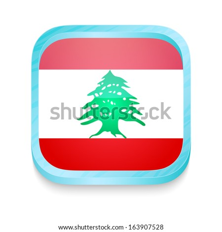 Smart phone button with Lebanon flag