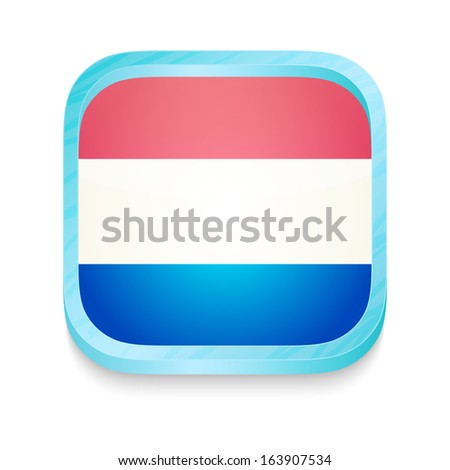 Smart phone button with Luxembourg flag