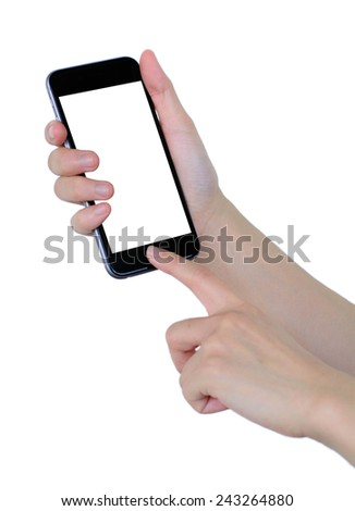 smart phone in a hand - stock photo