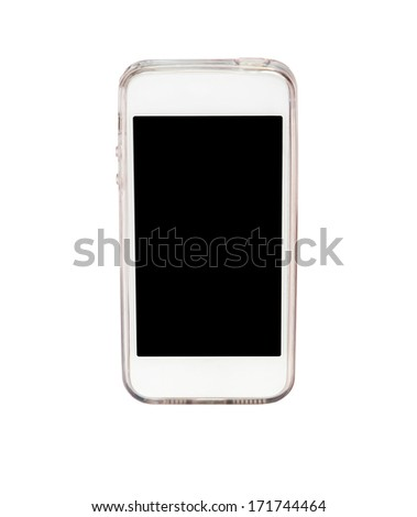smart phone isolated on white background - stock photo