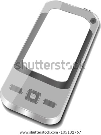 smart phone isolated on white background - raster