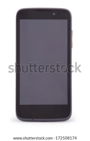 Smart Phone isolated on white. Two clipping path inside separately for PDA and screen. - stock photo