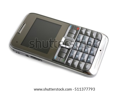 Smart phone. Modern mobile phone on white background.