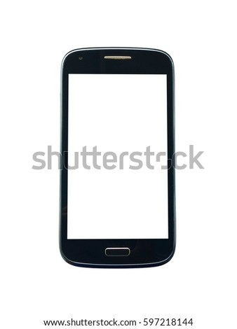 Smart phone on a white background.