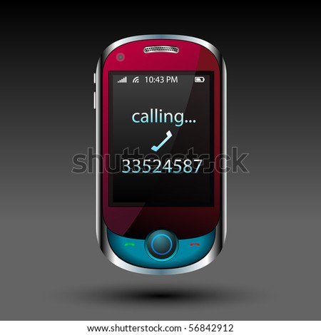 Smart phone - raster -  Original design - stock photo