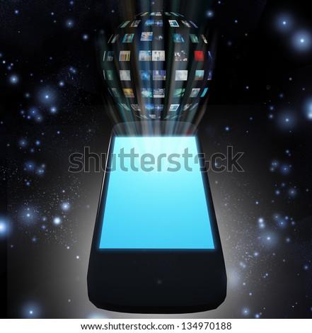 Smart Phone Video Sphere or Image Sphere - stock photo