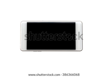 smart phone with blank screen and clipping path, isolated on white background