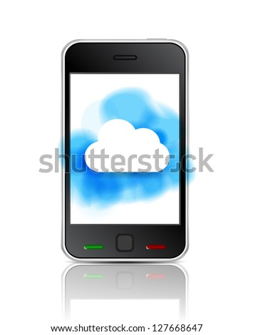 Smart phone with cloud