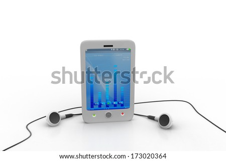 smart phone with earphones