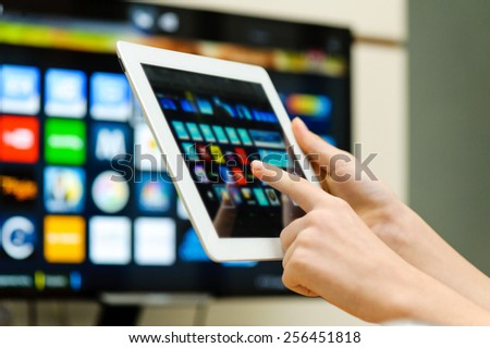 smart tv - stock photo