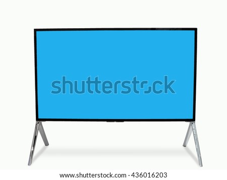 Smart tv led monitor isolated on white background