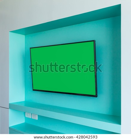 Smart TV on the wall