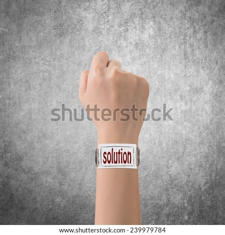 Smart watch concept of solution. - stock photo