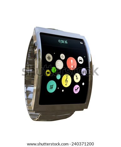 smart watch isolated on white background - stock photo