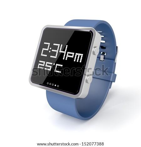 Smart watch on white background - stock photo
