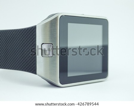 Smart watch with white background