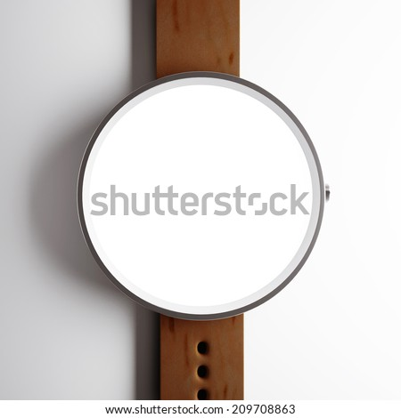 Smart watch with white screen