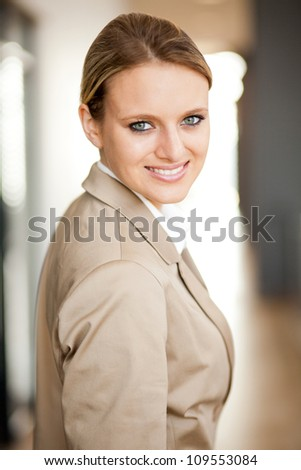 smart young businesswoman portrait - stock photo