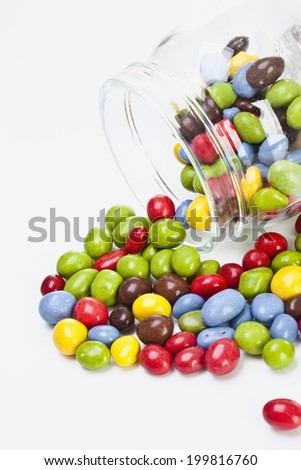 Smarties, elevated view - stock photo