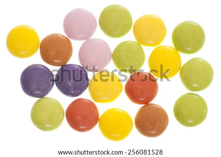 smarties sweets studio cut out - stock photo