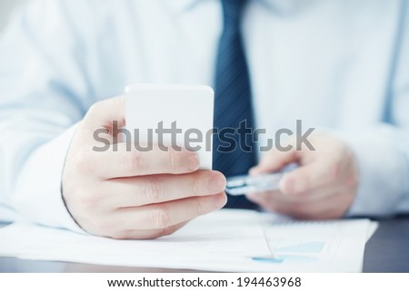 Smartphone and Credit Card in Hands - stock photo