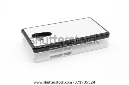 Smartphone case on white background.