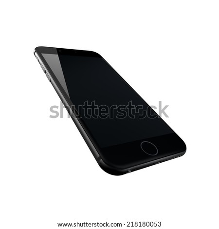 smartphone, 3d render isolated on white