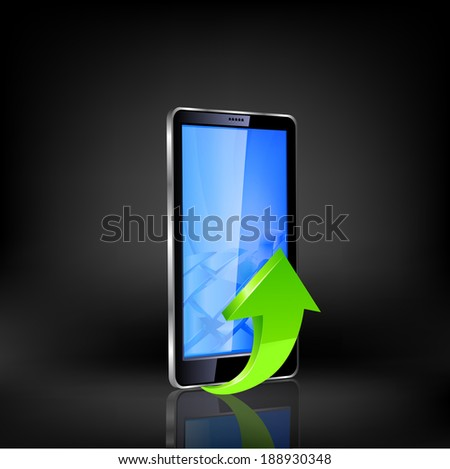 Smartphone editable file.Raster copy. - stock photo
