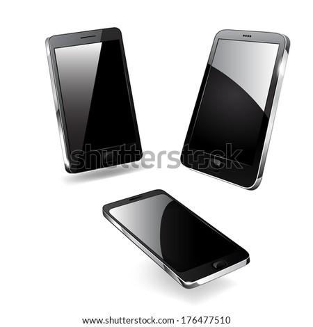 Smartphone editable vector file. Original design. raster copy. - stock photo