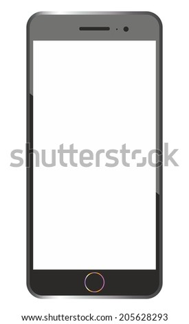 smartphone frame isolated
