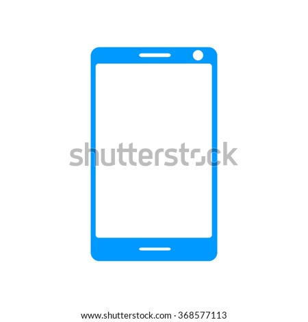 smartphone icon, illustration flat