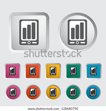 Smartphone icon. Vector version also available in my portfolio. - stock photo